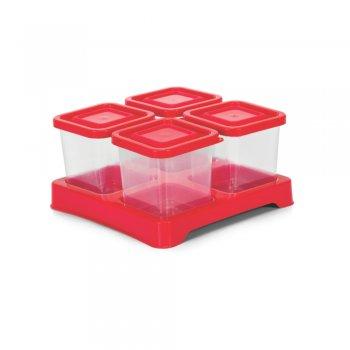 Conjunto Condimento Quadrado Transparente 4 peças 200 ml