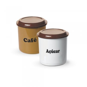 CONJ MANTIMENTO 2 PCS 1300ML CAFE ACUCAR - CADA
