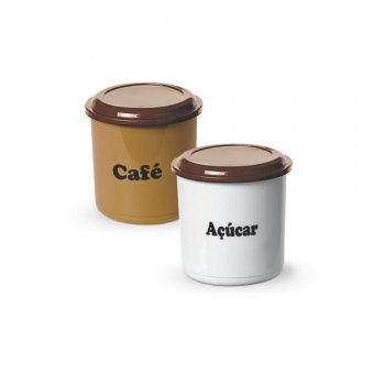 CONJUNTO CAFE ACUCAR - 850 ML - PLUS
