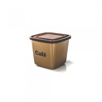 POTE MANTIMENTO QUADRADO AVULSO - CAFE - 1100 ML